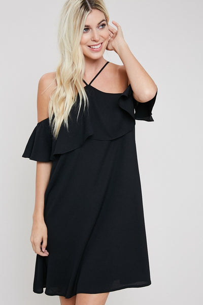Flouncy Halter Dress