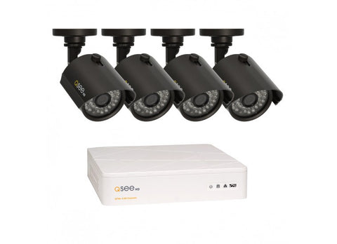 4 CHANNEL HD SECURITY SYSTEM WITH 4 HD 720P CAMERAS QTH4-4Z3-1