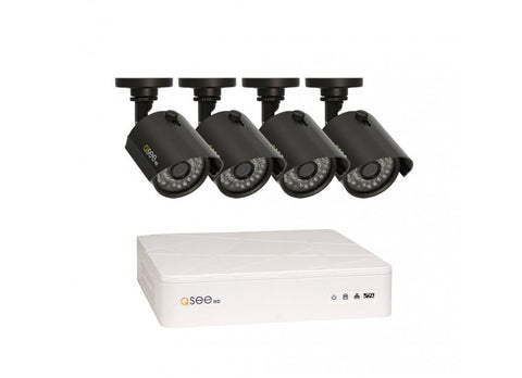 Q-SEE 8 CHANNEL HD SECURITY SYSTEM WITH 4 HD 720P CAMERAS QTH8-4Z3-1