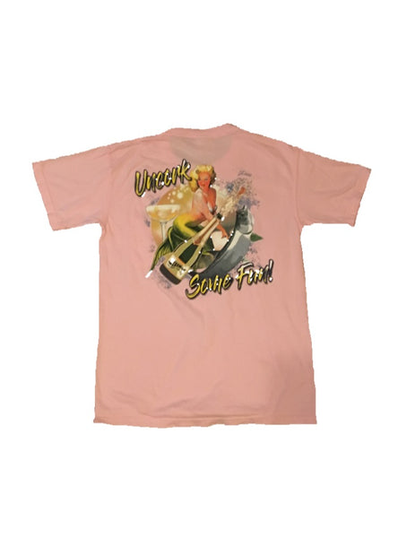 Champagne Mermaid Pocketed T-Shirt - Blossom