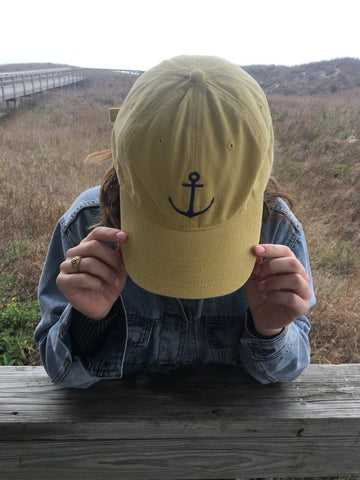 Sirena Anchors Away Baseball Cap - Mustard