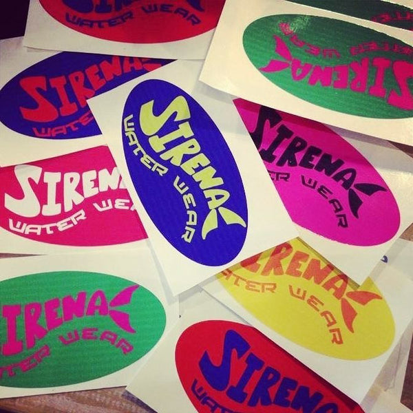 Sirena Rainbow Stickers