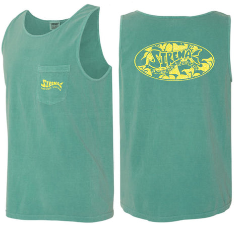Palm Paradise Tank - Jungle Green