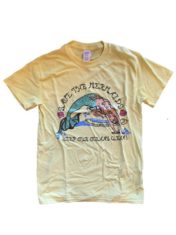 Save The Mermaids Glitter Tee