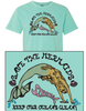 Save the Mermaid Glitter Tee - Sea Foam Green