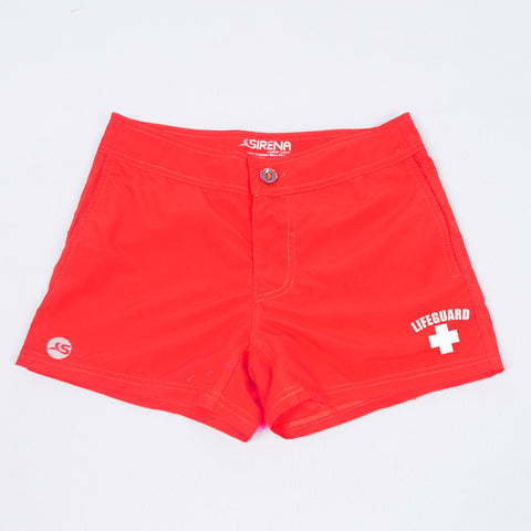 Women's Shorties -Lifeguard Red