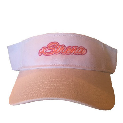 Sirena Visor- White with Pink