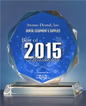 Atomo Dental. has been selected for the 2015 Best of Pleasanton Award in the Dental Equipment & Supplies category