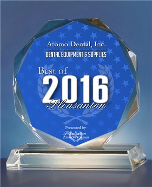Atomo Dental, Inc. Receives 2016 Best of Pleasanton Award in the Dental Equipment & Supplies category