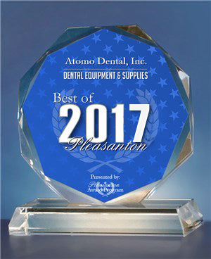 Atomo Dental, Inc. 2017 Best of Pleasanton Award in the Dental Equipment & Supplies category
