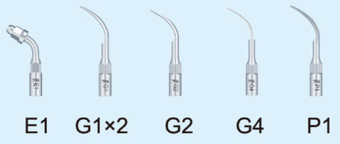 Woodpecker ultrasonic scaler accessory tip distributed by ATOMO Dental