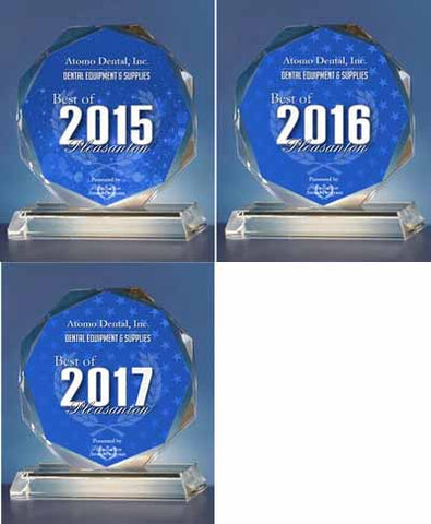 ATOMO dental award 2015 & 2016 & 2017 - 3 years in a row