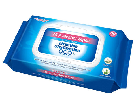 75% Alcohol Wipes, kill 99.9% germs (50/bag) - ATOMO Dental