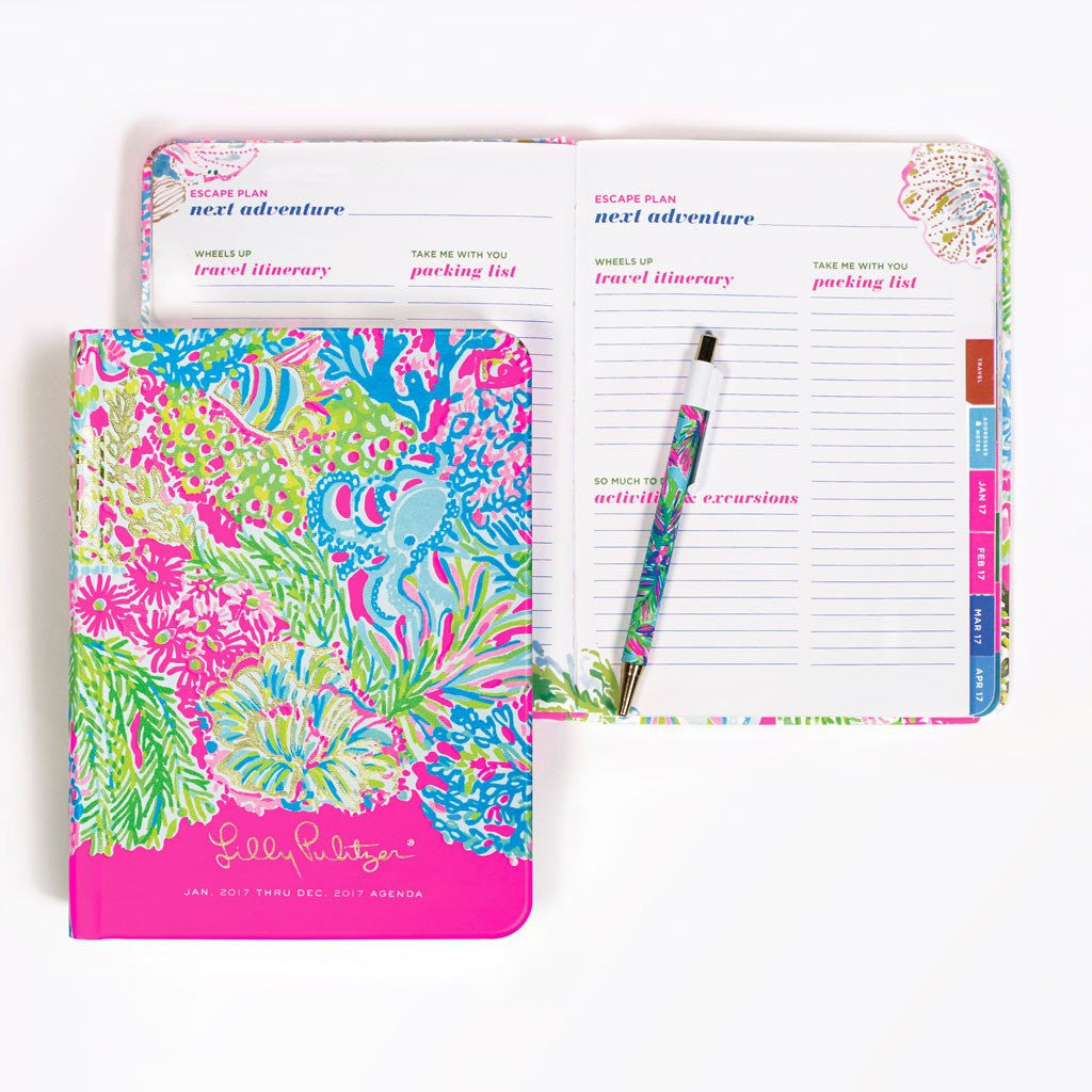 Lilly Pulitzer 12 Month Agenda - Lover's Coral - lifeguard-press - 2