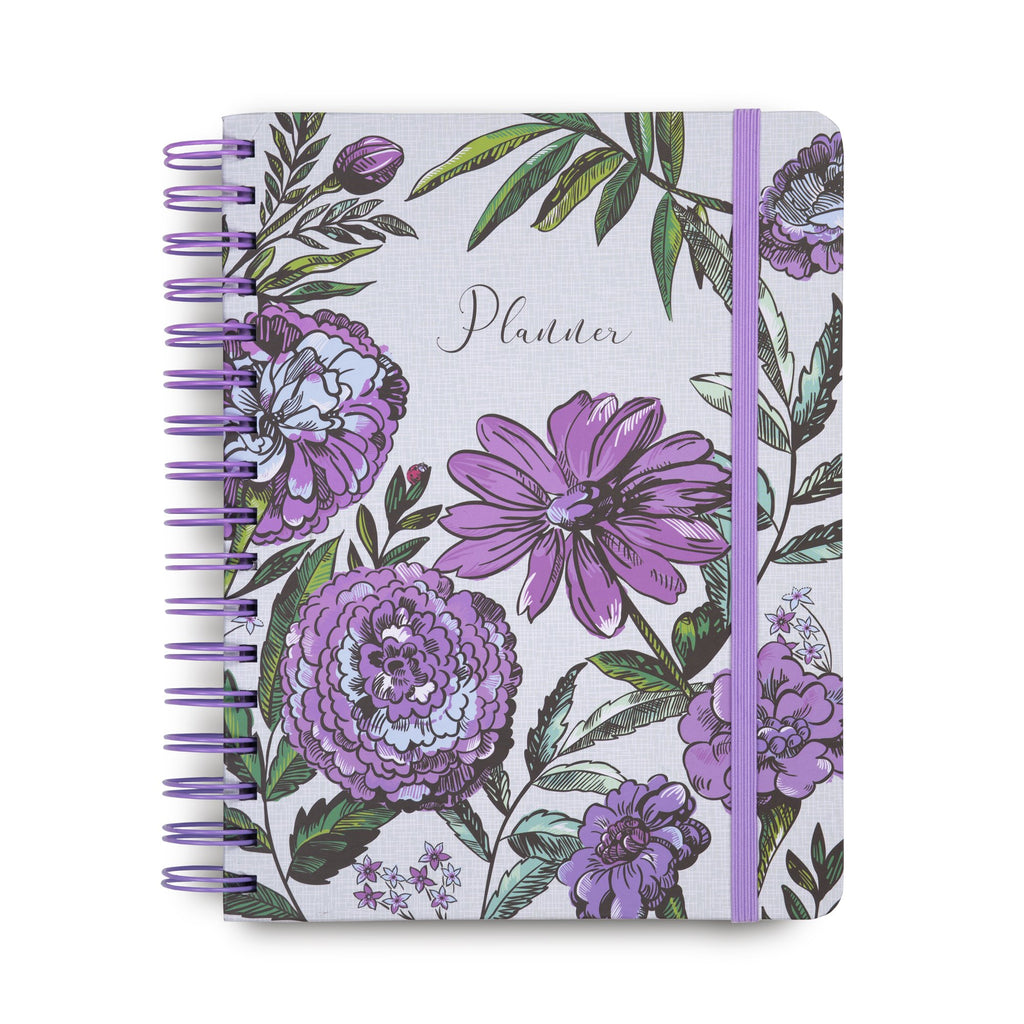 12 Month Non-Dated planner, Lavender Meadow