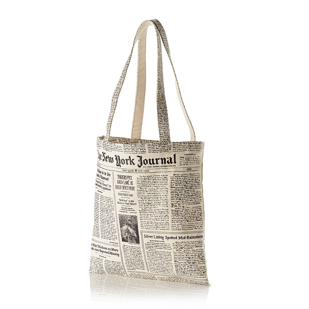 kate spade new york canvas tote - make headlines - lifeguard-press - 1