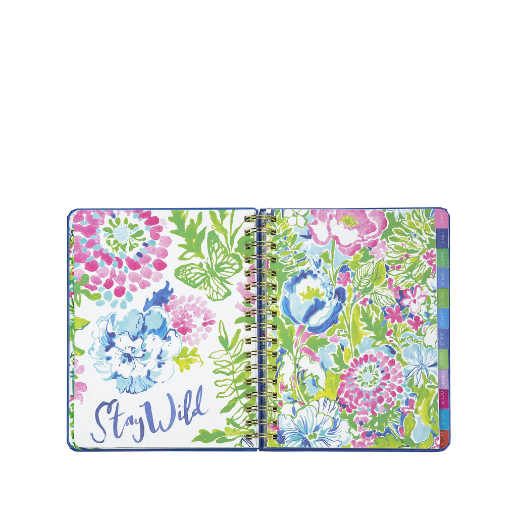 2020-2021 Lilly Pulitzer 17 Month Medium Agenda, Carnivale Coral