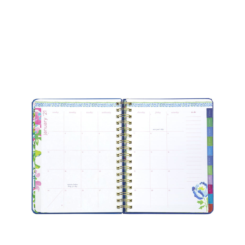 2020-2021 Lilly Pulitzer 17 Month Large Agenda, Shade Seekers