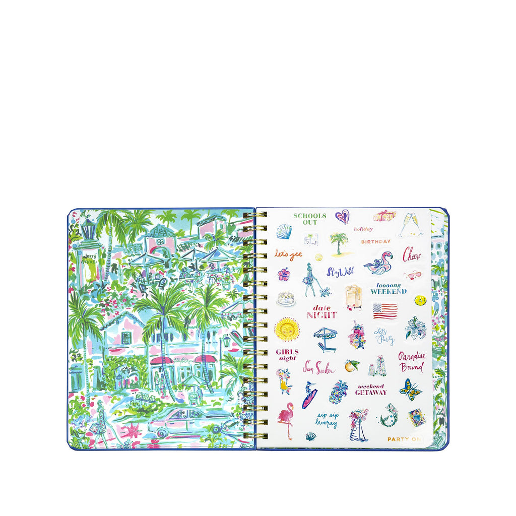 2020-2021 Lilly Pulitzer 17 Month Large Agenda, Island Hopping Toile