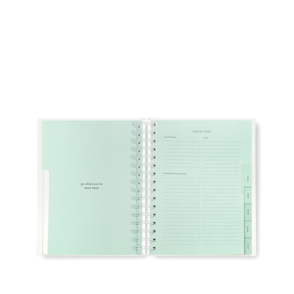2020-2021 kate spade new york 17 month large planner, white dot
