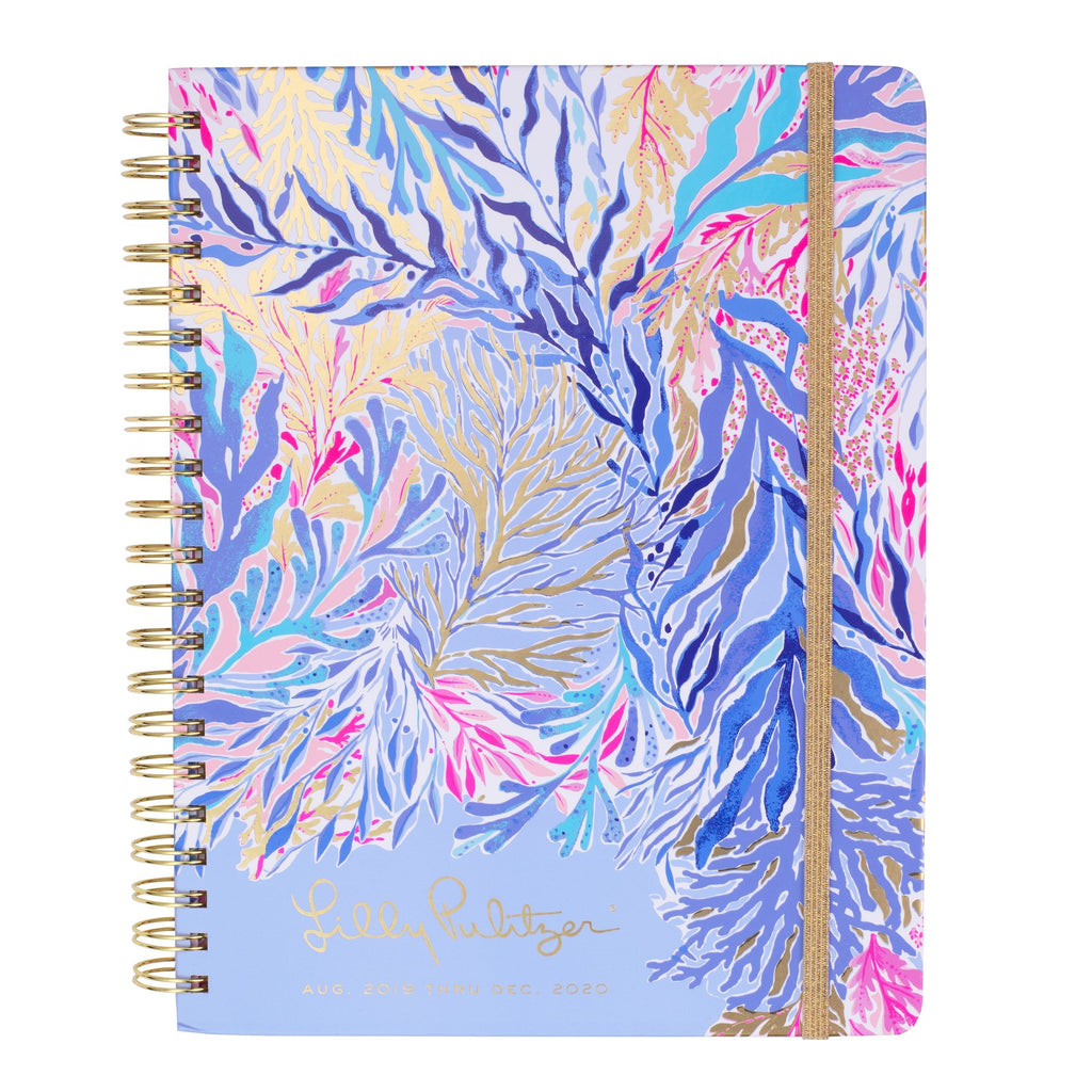 Lilly Pulitzer 17 Month Jumbo Agenda, Kaleidoscope Coral