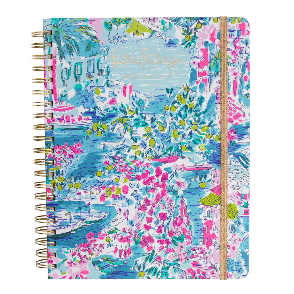 Lilly Pulitzer 17 Month Jumbo Agenda, Postcards From Positano