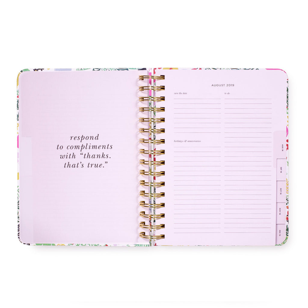 kate spade new york 17 Month Planner Large, Garden Posy