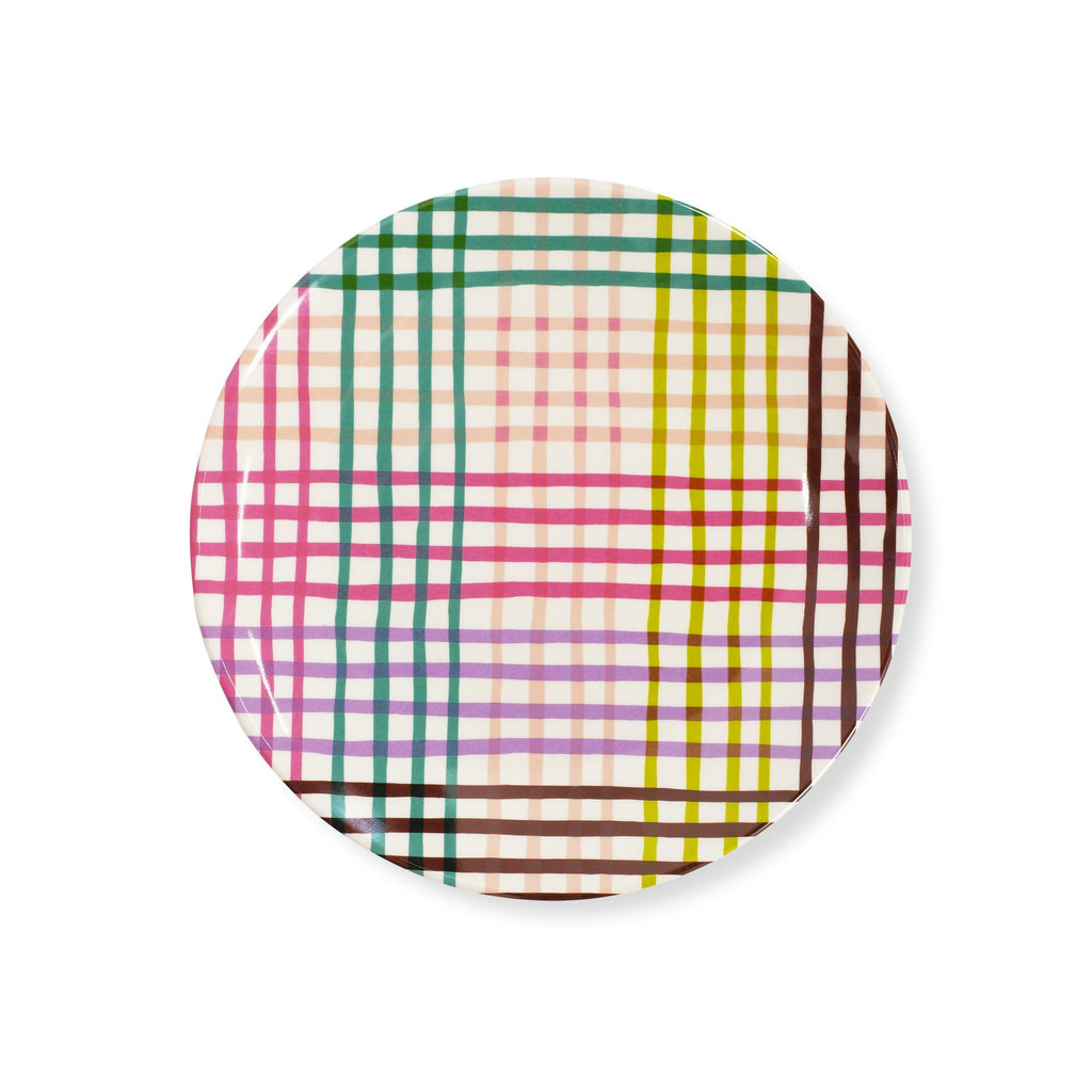 kate spade new yorkspade accent plate, rainbow gingham