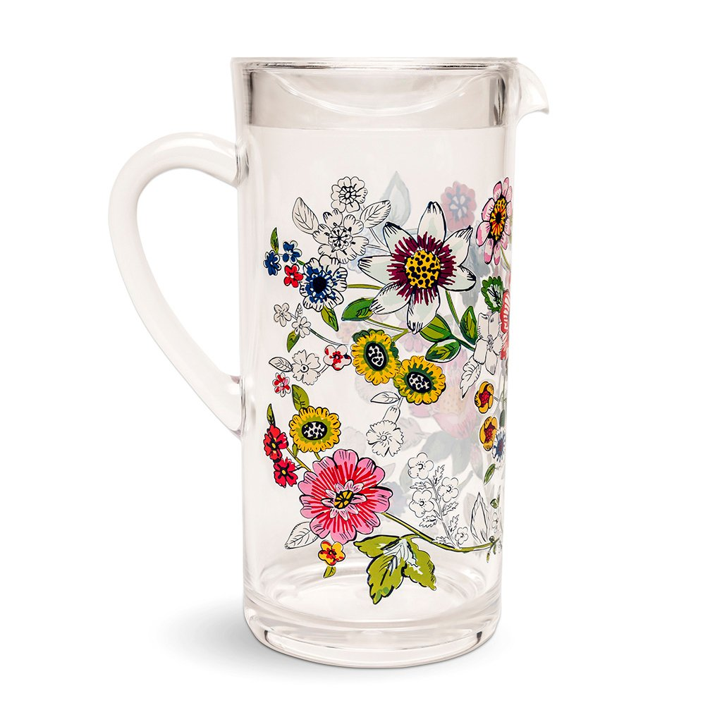 Vera Bradley Acrylic Pitcher - Coral Floral