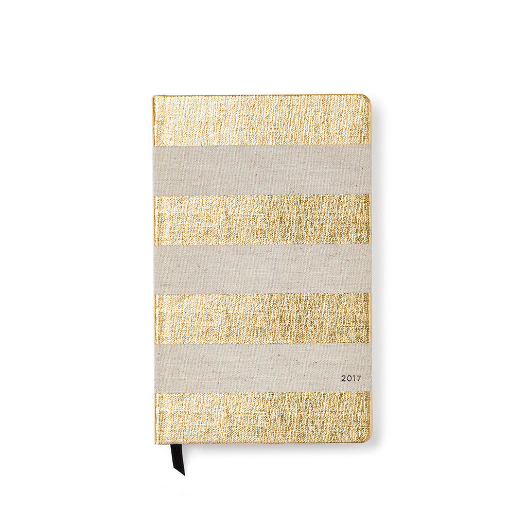 kate spade new york 2017 pencil it in 12-month agenda - foiled stripe - lifeguard-press - 1