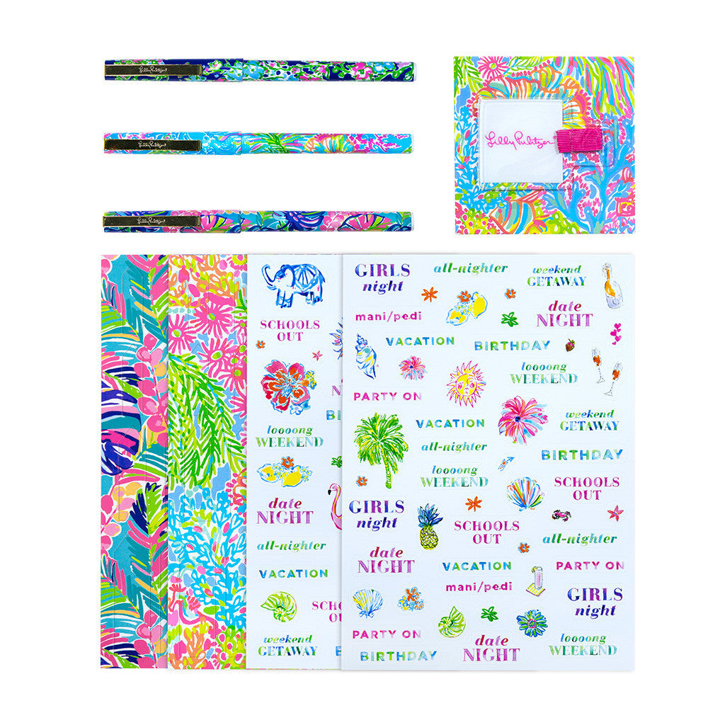 Lilly Pulitzer Agenda Bonus Pack - Exotic Garden (Neon Pink) - lifeguard-press - 2