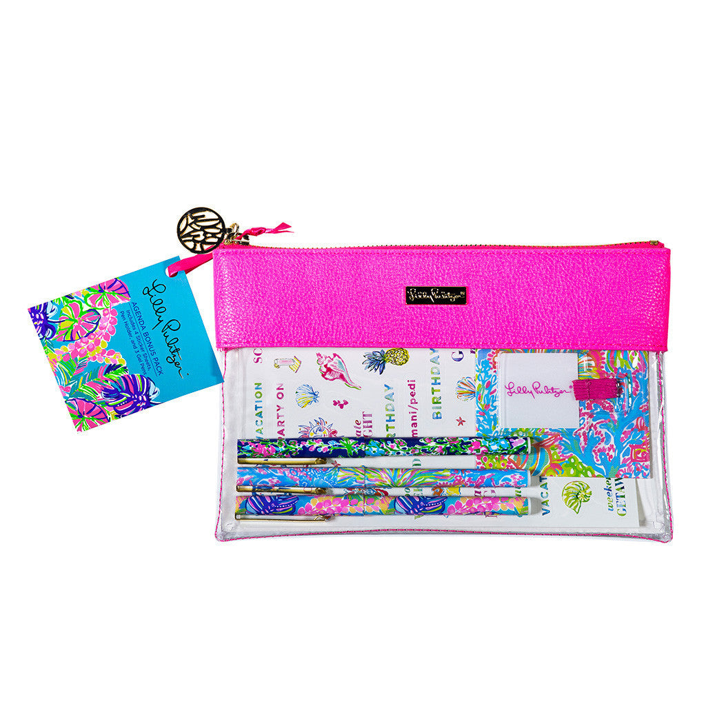 Lilly Pulitzer Agenda Bonus Pack - Exotic Garden (Neon Pink) - lifeguard-press - 1