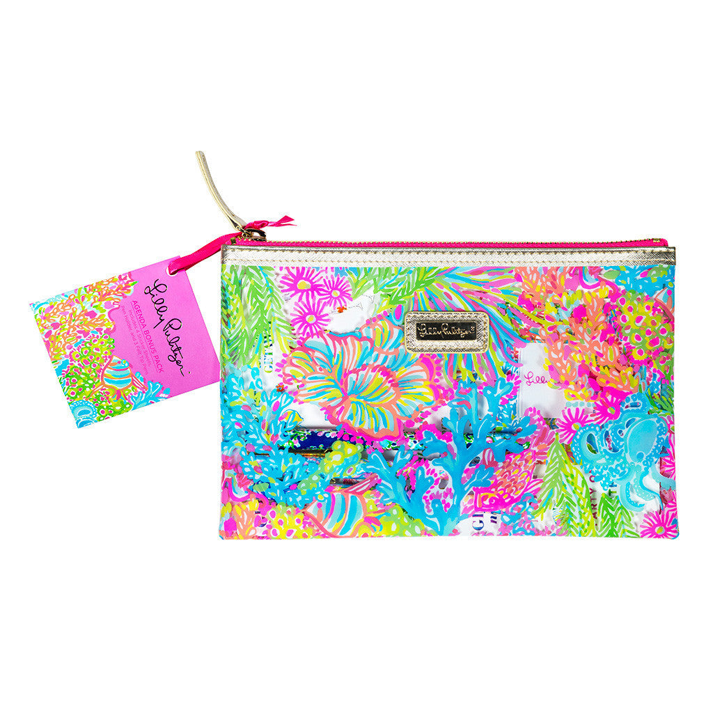 Lilly Pulitzer Agenda Bonus Pack - Lover's Coral - lifeguard-press - 1