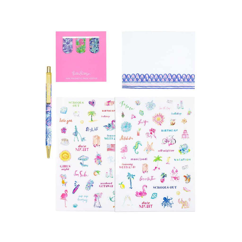 Lilly Pulitzer Agenda Accessory Pack, Shade Seekers