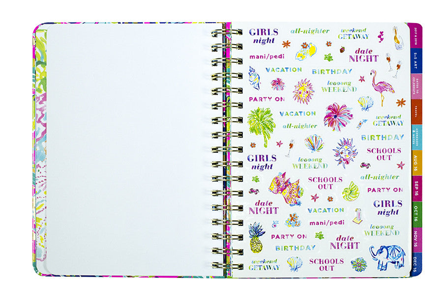 Lilly Pulitzer Monthly Planner - Tusk In Sun - lifeguard-press - 2