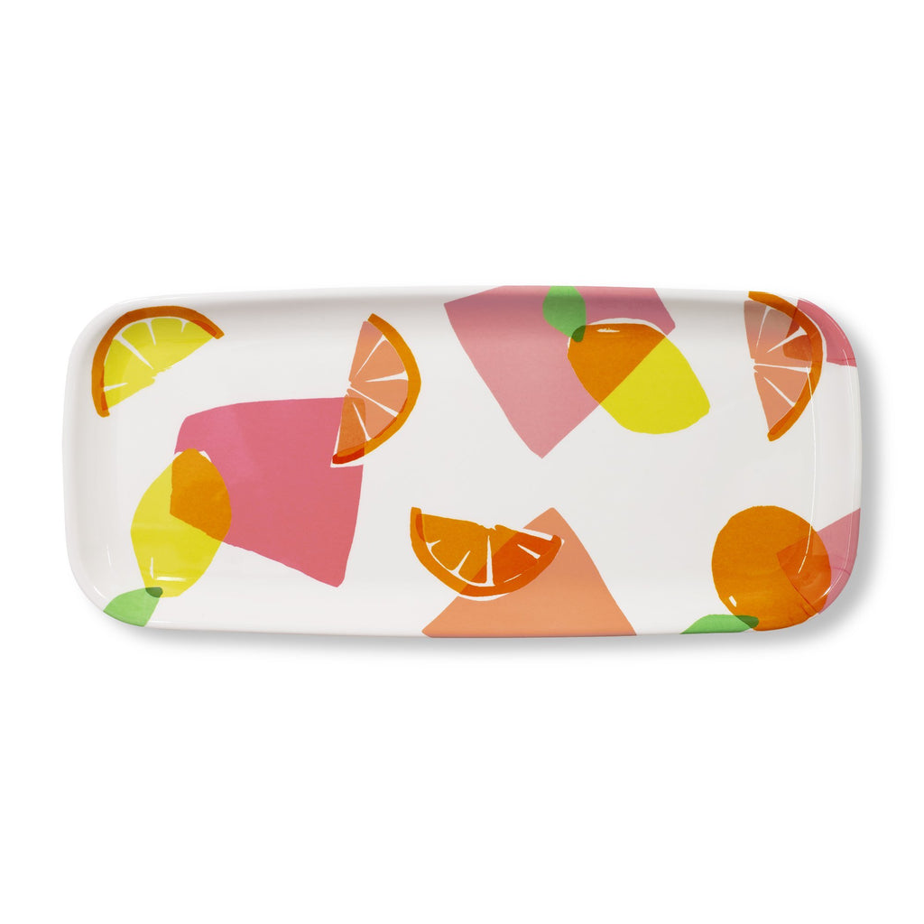 kate spade new york appetizer tray, citrus celebration