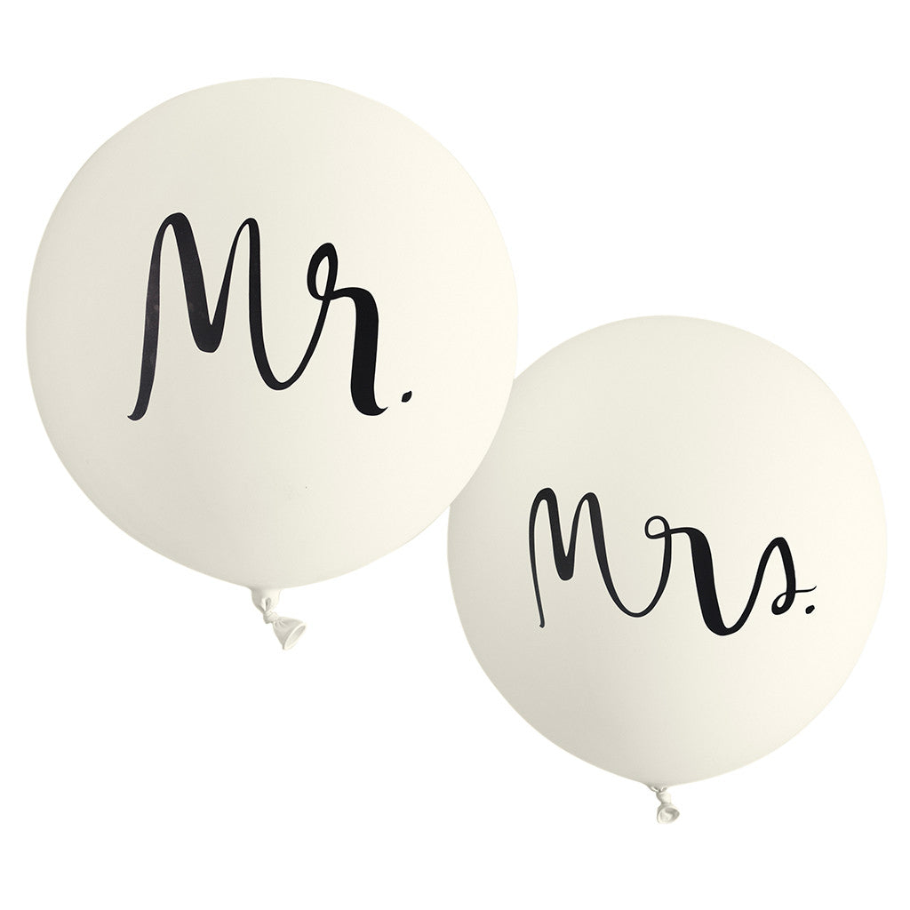 kate spade new york bridal balloon set - mr. and mrs. - lifeguard-press