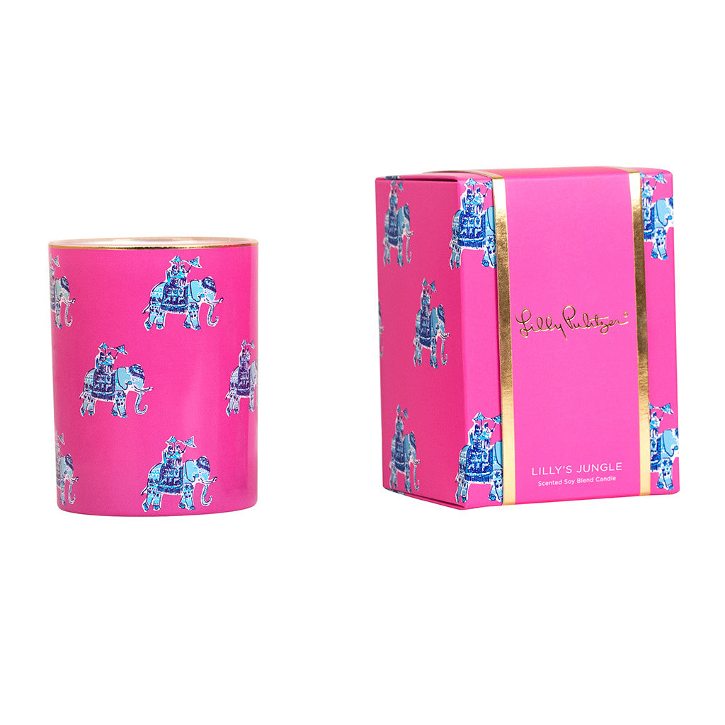 Lilly Pulitzer Glass Candle - Bazaar - lifeguard-press