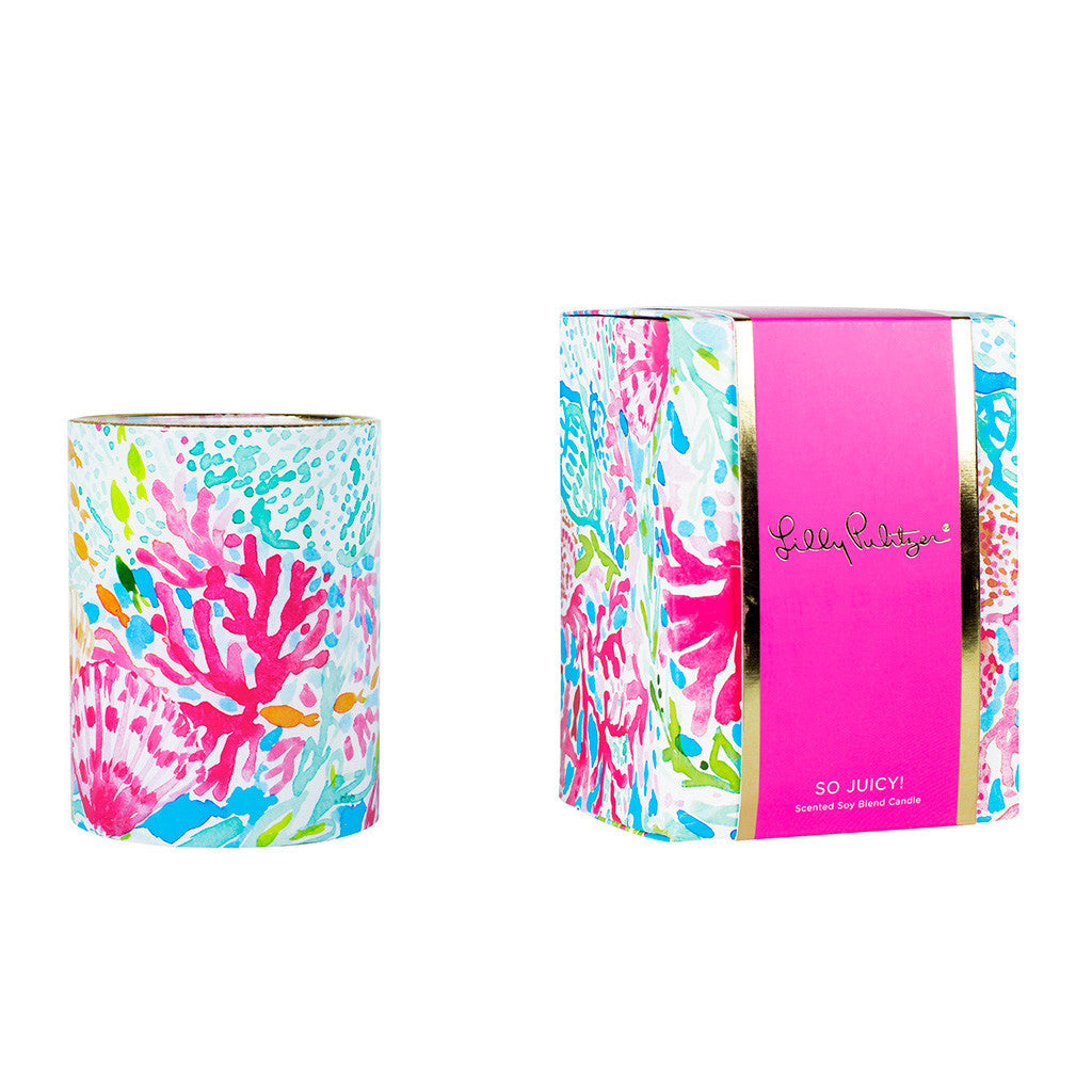 Lilly Pulitzer Glass Candle - Coral Cay - lifeguard-press - 1
