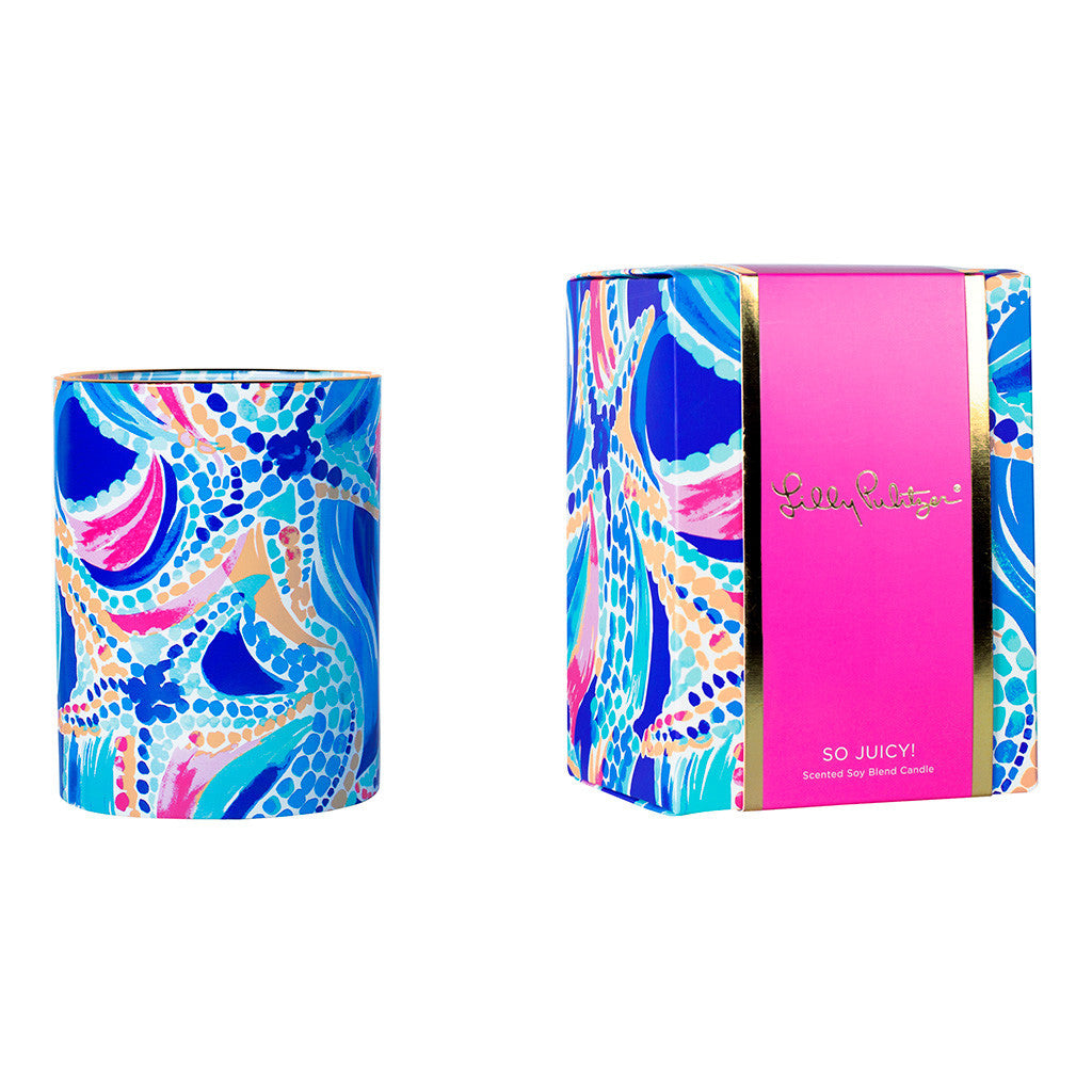 Lilly Pulitzer Glass Candle - Ocean Jewels - lifeguard-press - 1