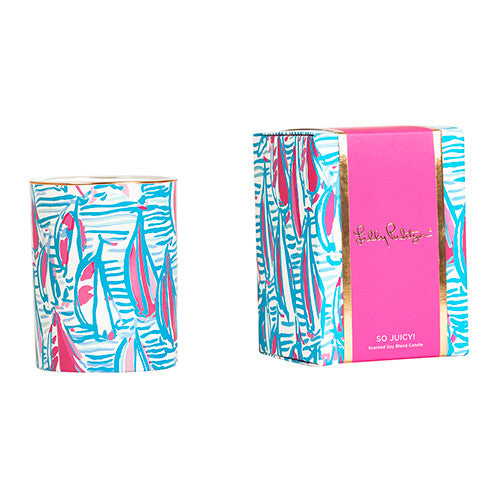 Lilly Pulitzer Glass Candle - Red Right Return - lifeguard-press