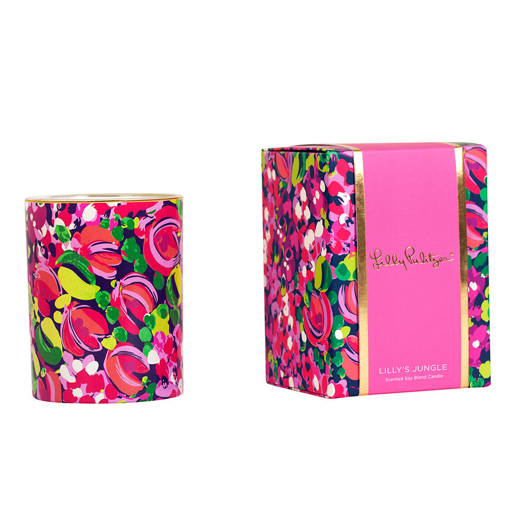 Lilly Pulitzer Glass Candle - Wild Confetti - lifeguard-press