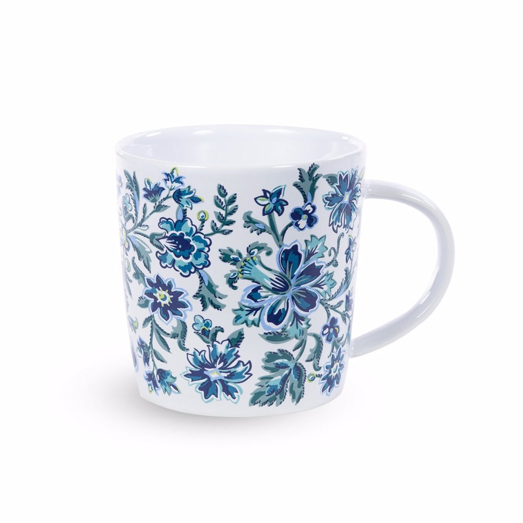 vera bradley ceramic coffee mug, cloud vine