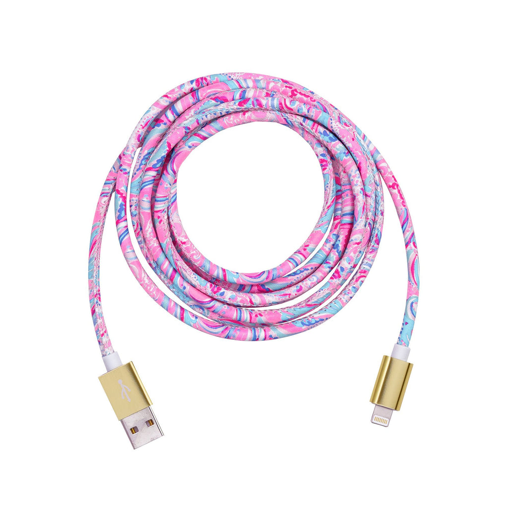 Lilly Pulitzer Charging Cord, Don't Be Jelly