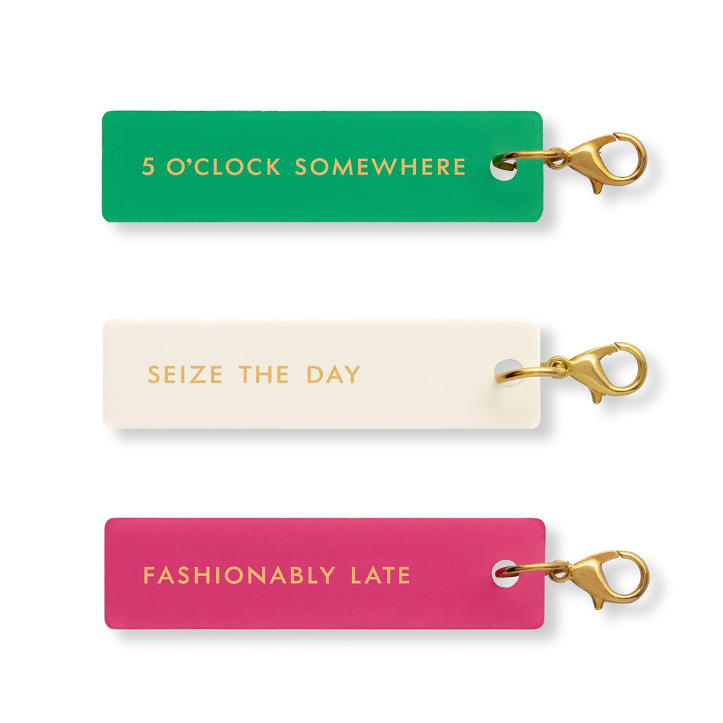 kate spade new york planner Charm set, fashionably late