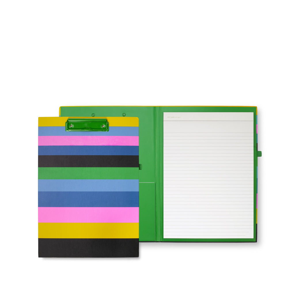 kate spade new york clipboard folio, enchanted stripe