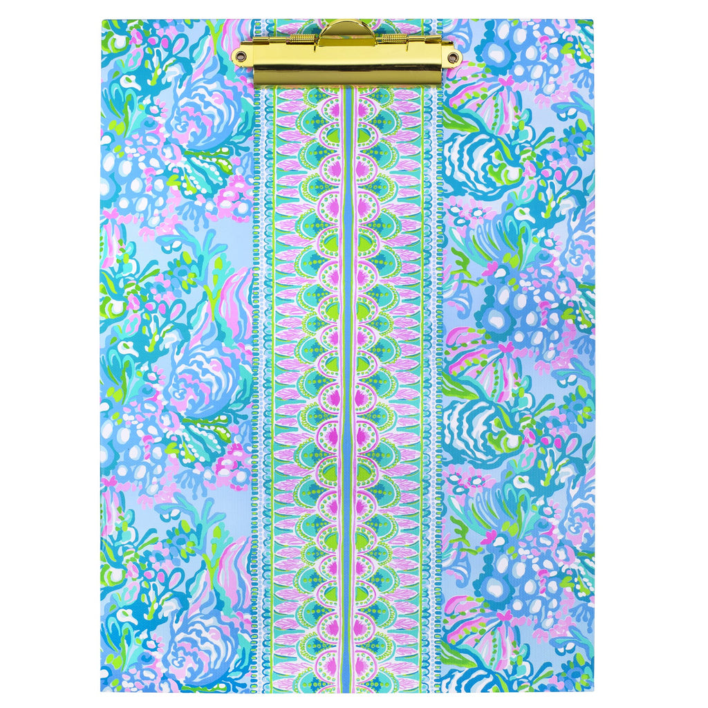 Lilly Pullitzer Clipboard Folio, Aqua La Vista