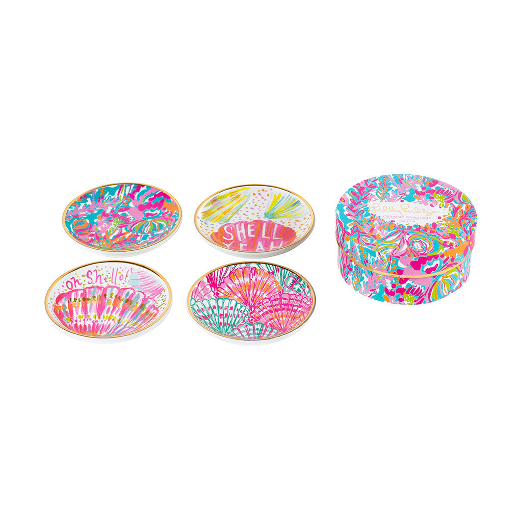Lilly Pulitzer Ceramic Coaster Set - Scuba to Cuba - lifeguard-press