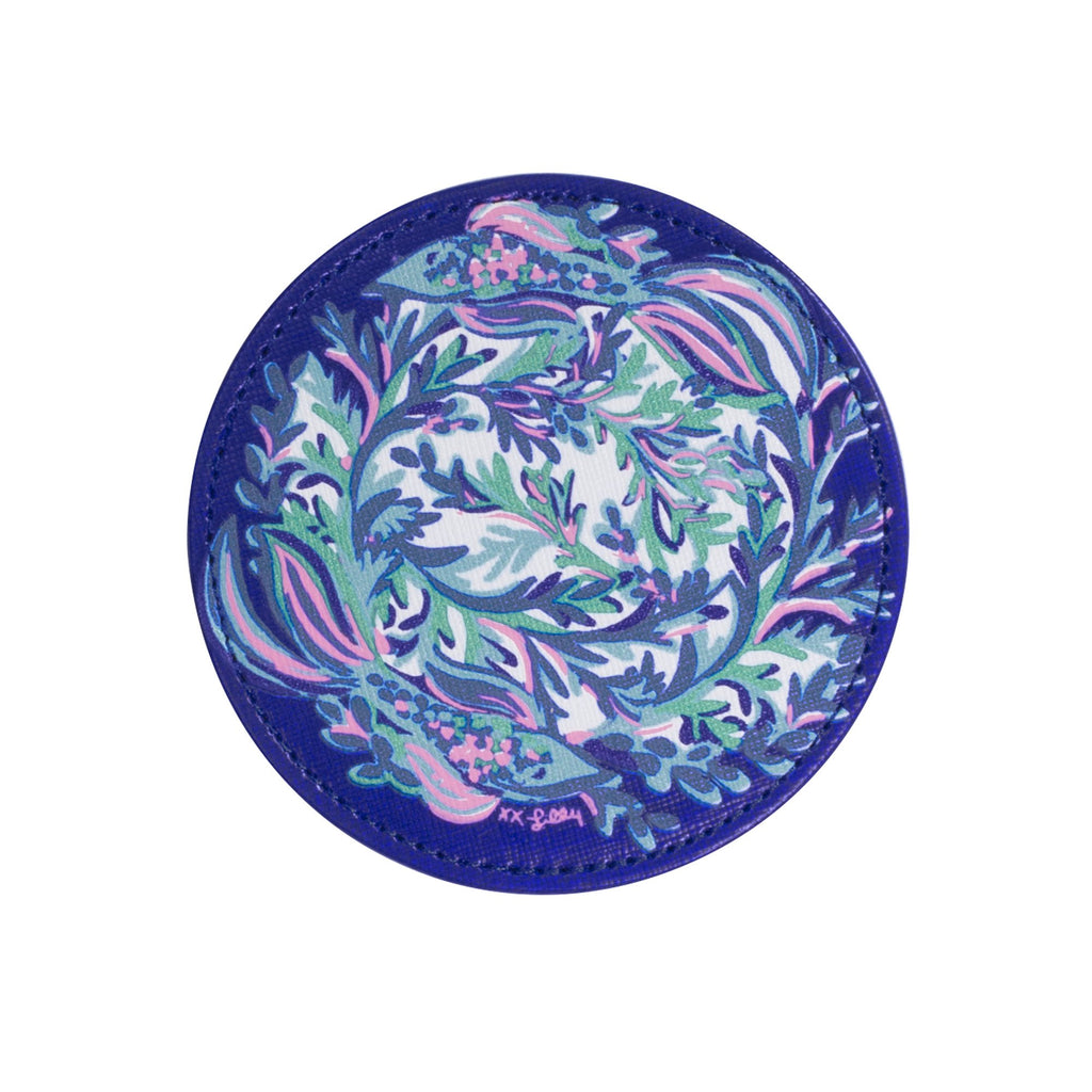 Lilly Pulitzer leatherette Coaster Set, Scale Up