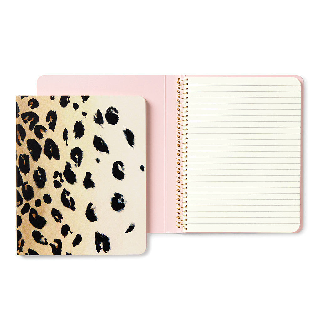 kate spade new york leopard concealed spiral notebook - lifeguard-press - 1